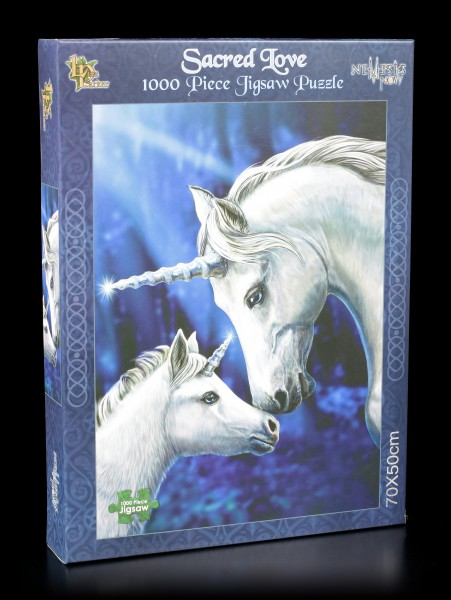 Jigsaw Puzzle with Unicorns - Sacred Love