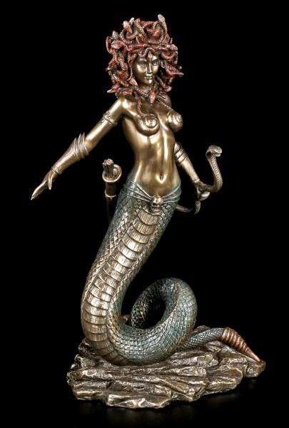 Medusa Figur mit Schlangen Bogen