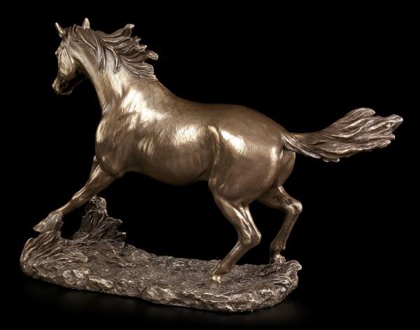 Horse Figurine - Running bronzed