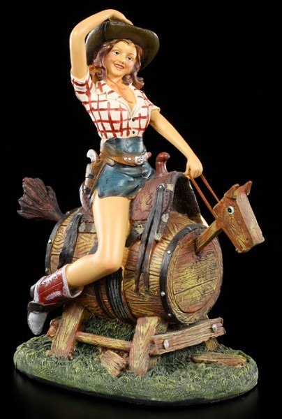 Cowgirl Pinup Figur - Rodeo