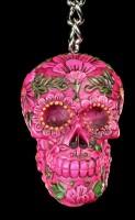 Keyring - Sugar Blossom Skull