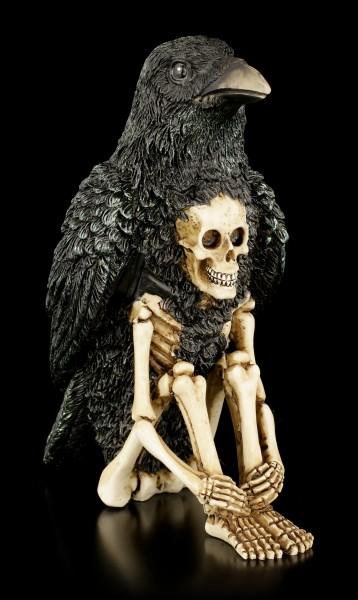 Totem - Skelett Figur mit Rabe