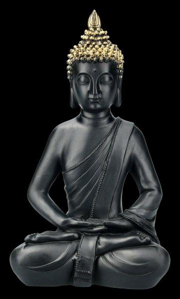 Black Buddha Figurine - Lotus Position