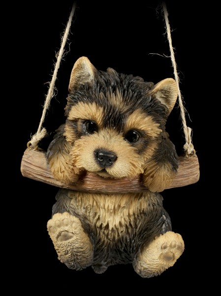 Hanging Dog Figurine - Yorkie Puppy
