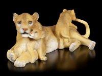Garden Figurine - Lion with Puppies