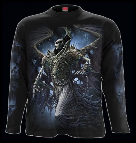 Spiral Reaper Langarmshirt - Winged Skeleton