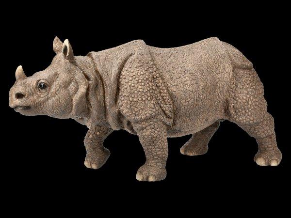 Garden Figurine - Running Rhino