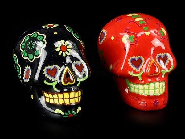 Salz- und Pfefferstreuer - Mexikanische Totenköpfe