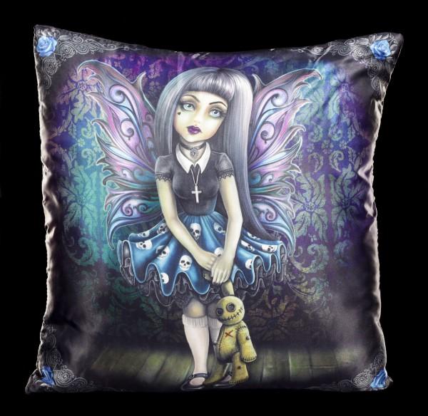 Kissen mit Gothic Elfe - Noire