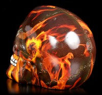 Colourfull Skull with Flames - Inferno