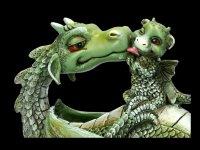 Dragon Figurine - Sweetest Moment - green