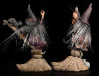 Witch Sisters Figurine with Besom