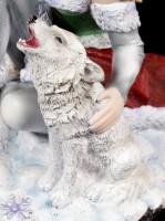 Winter Fairy Figurine - Valeriana with Wolf
