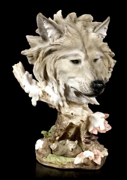 Large Wolf Head Bust - Hibernate