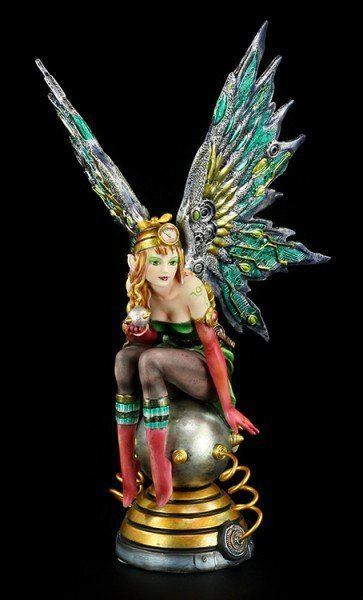 Steampunk Fairy Figurine - Appleby colorful