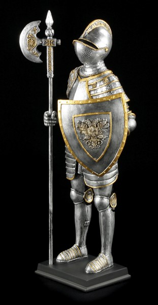 German Knight Figurine with Halberd and Shield
