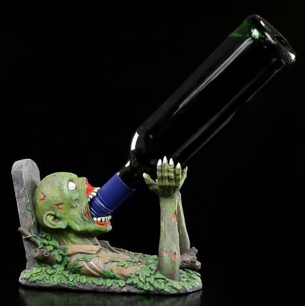 Flaschenhalter - Zombie mit Grabstein T Total
