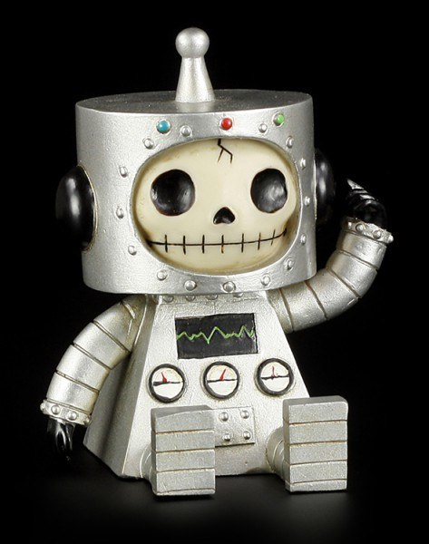Silver Robot Chip - Large Furry Bones Figure
