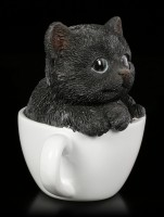 Black Kitty in Cup - small
