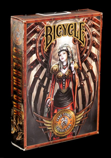 Poker Playing Cards - Steampunk by Anne Stokes