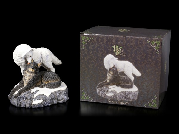 Wolf Figurines - Snow Kisses by Lisa Parker