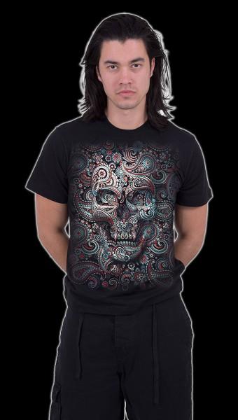 Spiral Totenkopf T-Shirt - Skull Illusion