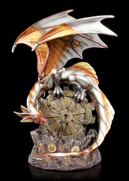 Steampunk Drachen Figur - Mechanic Wings