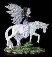 Elfen Figur - Belimone mit Einhorn und Eule
