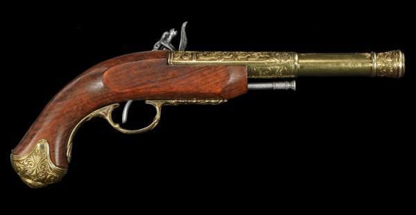 Steinschloßpistole - Indien Linkshänder