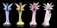 Elfen Figuren 4er Set - Vier Farben der Freude
