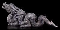 Garden Figurine - Black Chinese Dragon