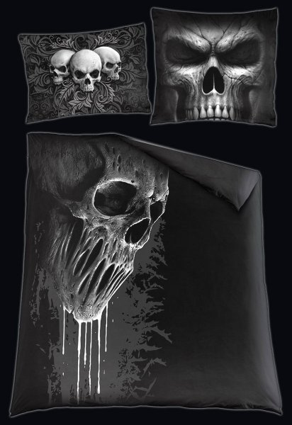 Skull Scroll - Double Duvet Cover with Pillow Case