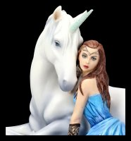 Unicorn Figurine - Blue Moon by Anne Stokes