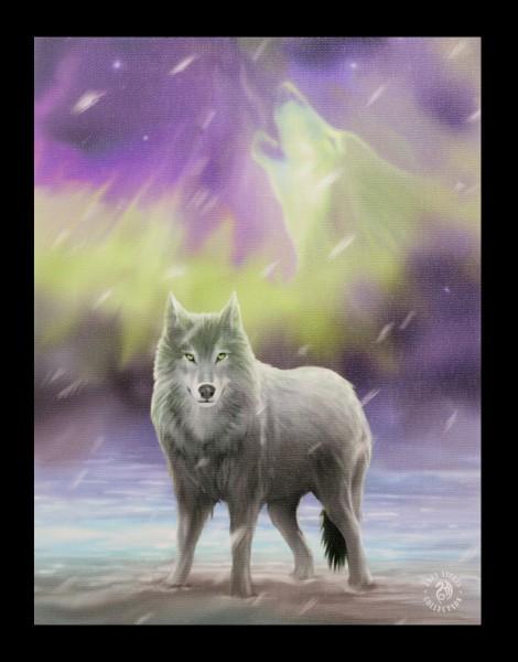 Kleine Leinwand - Aura Wolf by Anne Stokes