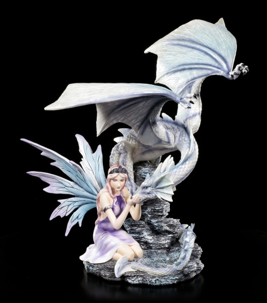 Fairy Figurine - Belia with blue Dragon