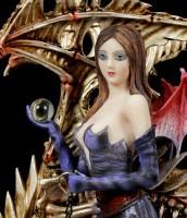 Dark Angel Figur - Larua mit Skelett Drache
