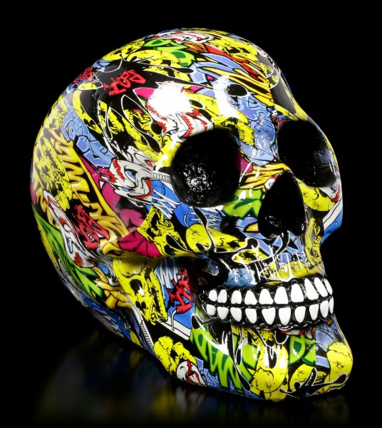 Colourful Skull - Graffiti