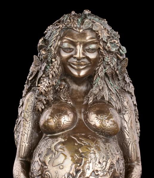 Tausendjährige Gaia Figur - Mutter Erde bronziert