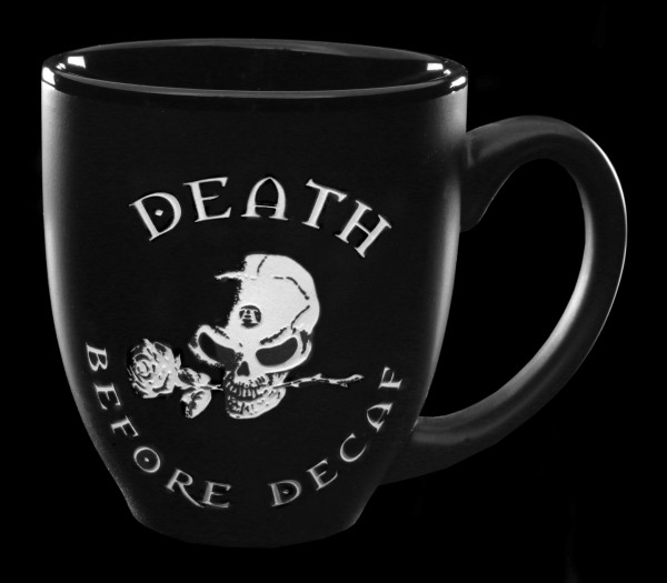 Alchemy Gothic Tasse - Death before Decaf