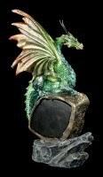 Dragon Figurine with LED - Eye of the Dragon - Green