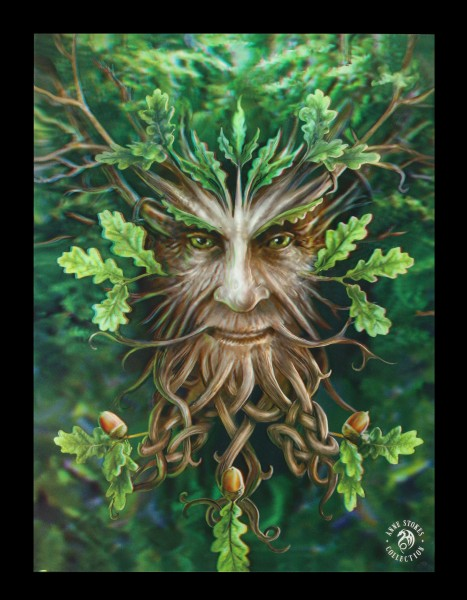 3D Picture with Forest Spirit - Oak King