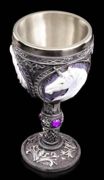 Kelch mit Einhorn lila - Unicorn Elixir