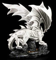 Large White Dragon Figure watches Treasure Chest