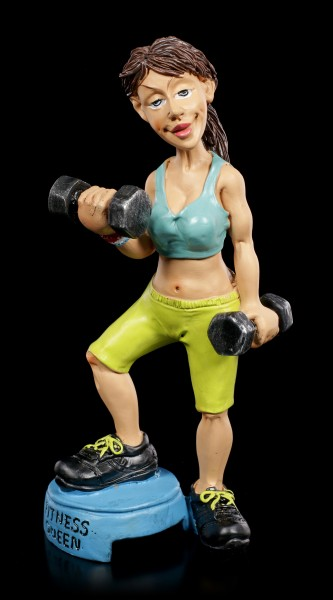 Funny Sports Figurine - Fitness Queen with Weights