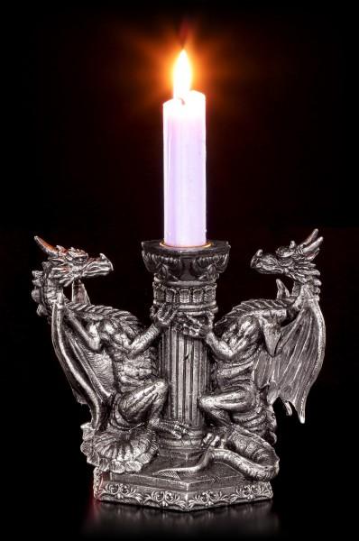 Drachen Kerzenhalter - Wächter des ewigen Feuers