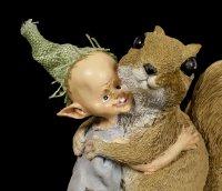 Pixie Kobold Figur - Eichhörnchen Kuscheln