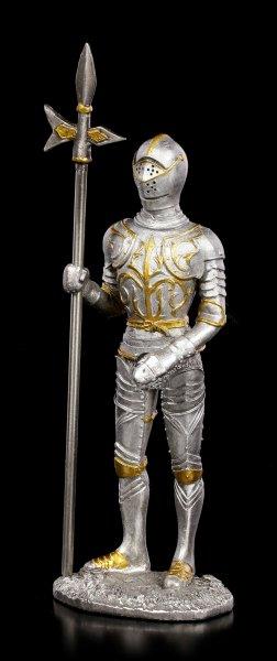 Zinn Ritter Figur mit Hellebarde