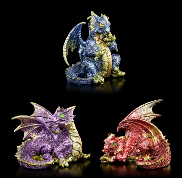 Drachen Figuren 3er Set - Fierce Friends