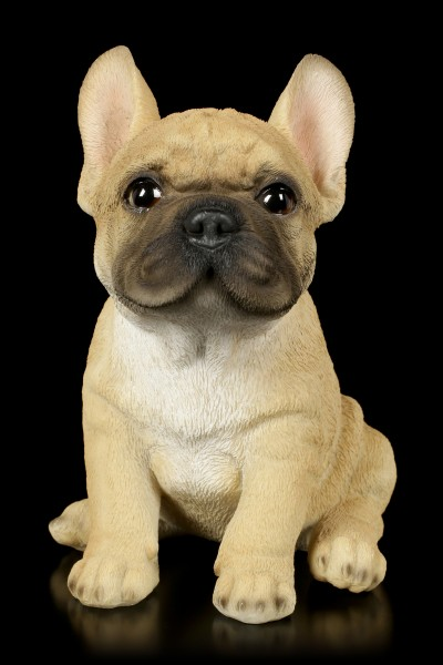 Dog Figurine - French Bulldog Puppy