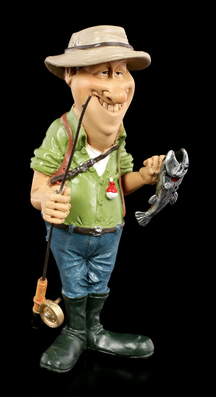 Funny Sports Figur - Angler präsentiert Fang